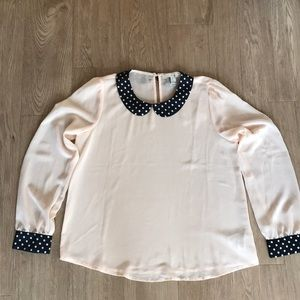Forever 21 Peter Pan collared lg sleeve blouse. M.